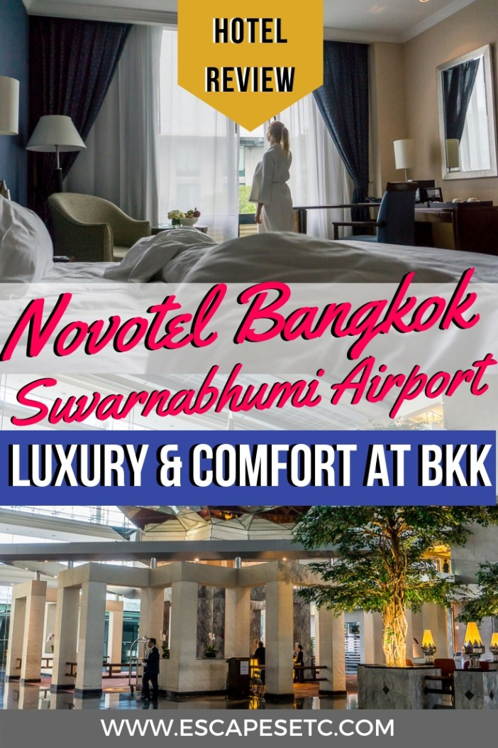 Looking for the perfect hotel to stay near Bangkok airport? Novotel Bangkok Survarnabhumi Airport hotel is the perfect option! From having 24 hour flexi check-in to being just a 5 minutes walk to the terminal, this hotel is not only luxurious but also super convenient. Check out my full review here #novotel #accorhotel #bangkokhotel #bangkokairporthotel #bangkokairport