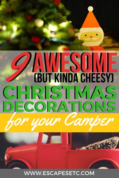 Are you planning an epic roadtrip this Christmas? Being away from home this time of year can be so different but I've got the perfect way to bring a bit of Christmas into your mobile home. Here are 9 awesome Christmas decorations for your camper or car #christmasdecorations #cardecorations #christmasroadtrips #howtodecorateyourcamper #christmasideas #christmastravel