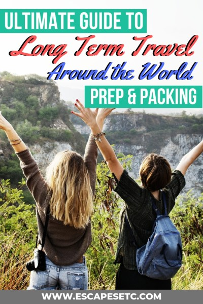 Are you planning a trip of a lifetime? Planning for long term travel across multiple countries and climates can be so confusing. So to help you with all the planning and packing, here's the ultimate long term travel checklist: Prep and Packing for international travel #aroundtheworldtravel #longtermtravel #travelpacking #travelchecklist #backpacking #whattopack #planningatrip