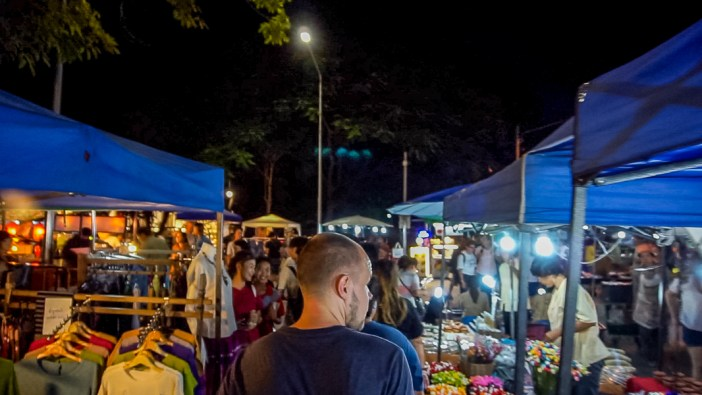 Saturday and Sunday walking street market The weekend markets in Chiang Mai are huge, insane and some of the best I have ever been to. Along with hundreds of stalls selling everything you could ever think of, there is a wealth of street food. The best thing about trying food this way is that you can watch it being cooked right in front of you and enjoy it straight from the pan. There isn't really the best section to head to for food as you'll find it down every part you walk through.