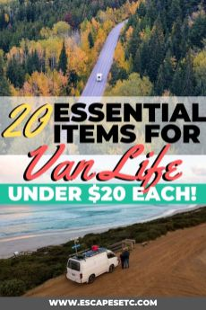 Packing your van is one of the trickiest things about living in a small space but after living the van life in Australia I know a few things. Take a look here for a budget friendly campervan packing list that will give you 20 campervan essentials for under $20. These van life essentials will make living in a van just that bit easier! #vanlife #livinginavan #roadtrip #motorhome #roadtripaustralia #vanconversion #campervanlife #campervanconversion #campervanpackinglist
