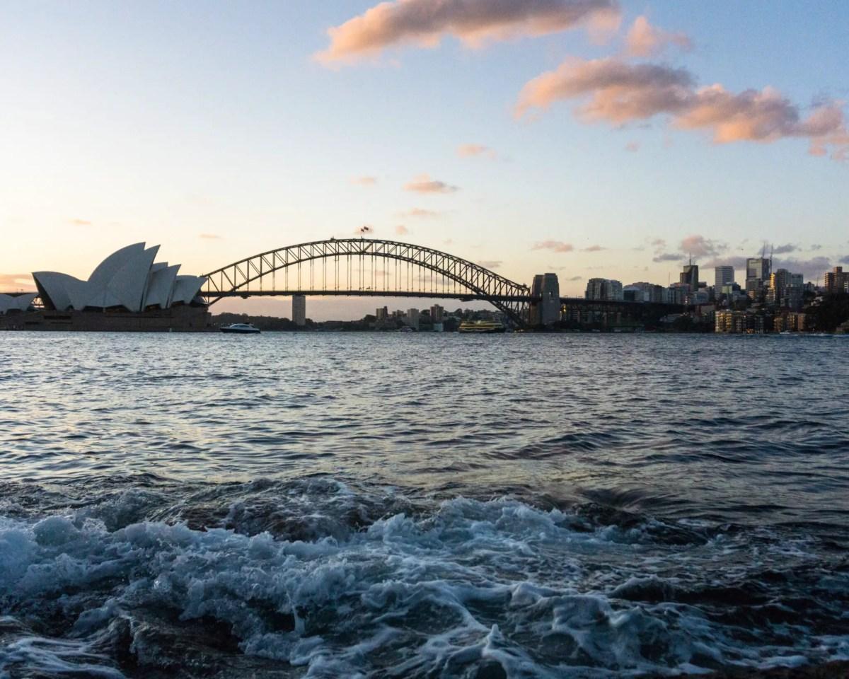Sunset at Mrs Macquarie's Point, Sydney