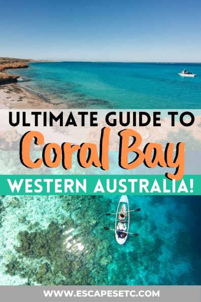Ultimate guide to Coral Bay Western Australia! This guide shows you the top 16 things to do in Coral Bay including the best snorkelling in Coral Bay on the Ningaloo Reef, Where to eat and what to do. #coralbay #westernaustralia #ningalooreed