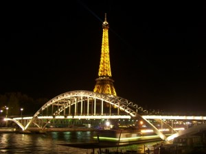 Eiffel Tower Picture at Night