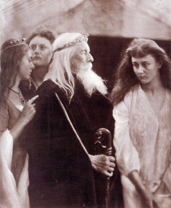 King Lear and his daughters