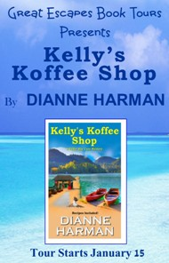 KELLY'S KOFFEE SHOP  SMALL BANNER