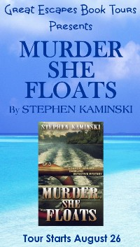 MURDER SHE FLOATS SMALL BANNER