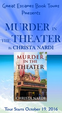 MURDER IN HE THEATER small banner