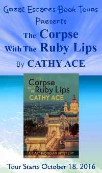 the corpse with the RUBY LIPS small banner