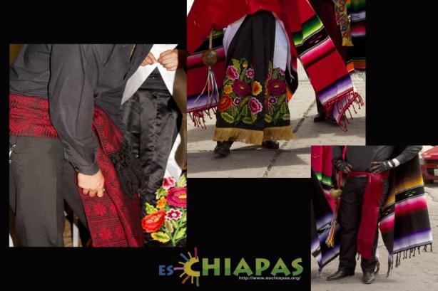 Vestimenta del Parachico. Bandas y Chalinas.