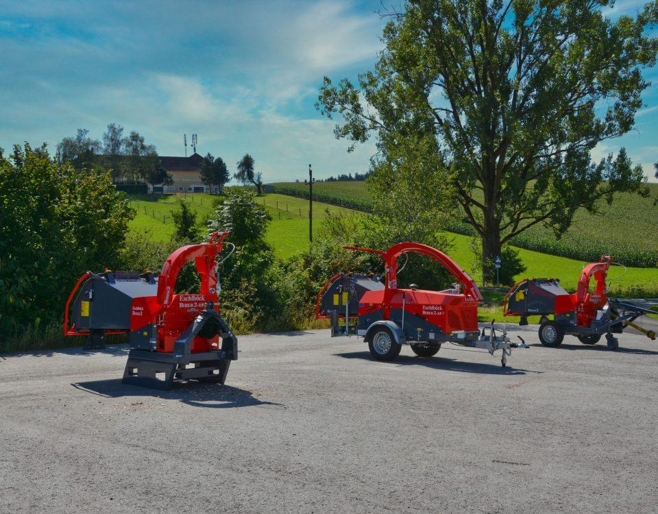 Eschlböck Biber 2-15 Holzhackmaschinen Transportstellung
