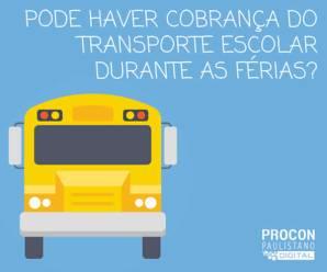 Cobrança do transporte escolar nas férias é legal? Veja o que a justiça diz.