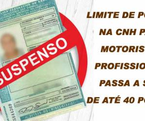 Motoristas escolares também passam a ter limite de 40 pontos na CNH com aprovação de marco regulatório dos caminhoneiros