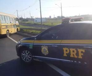 Operação da PRF autua 15 veículos escolares no interior de SP