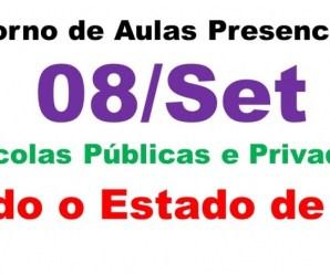 Governo de SP anuncia que aulas presenciais só retornam em 08 de setembro e com 35% de alunos