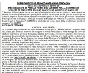 Prefeitura de Guarulhos-SP credencia motoristas para Programa de Transporte Escolar Gratuito