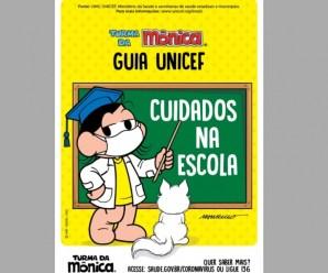 Turma da Mônica ilustra guia do Unicef com orientações às crianças no retorno às aulas presenciais