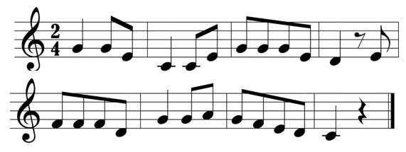 Resultado de imagem para partitura musical
