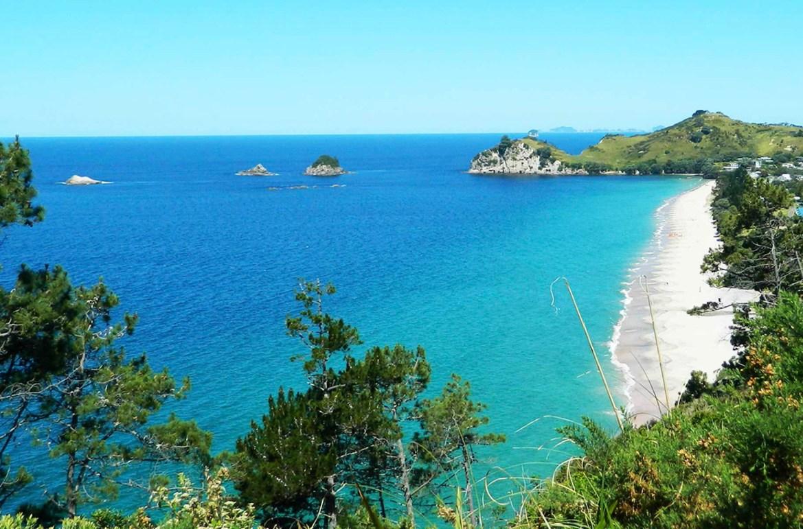 Praias mais lindas do mundo - Praia de Hahei, na Península de Coromandel (Nova Zelândia)