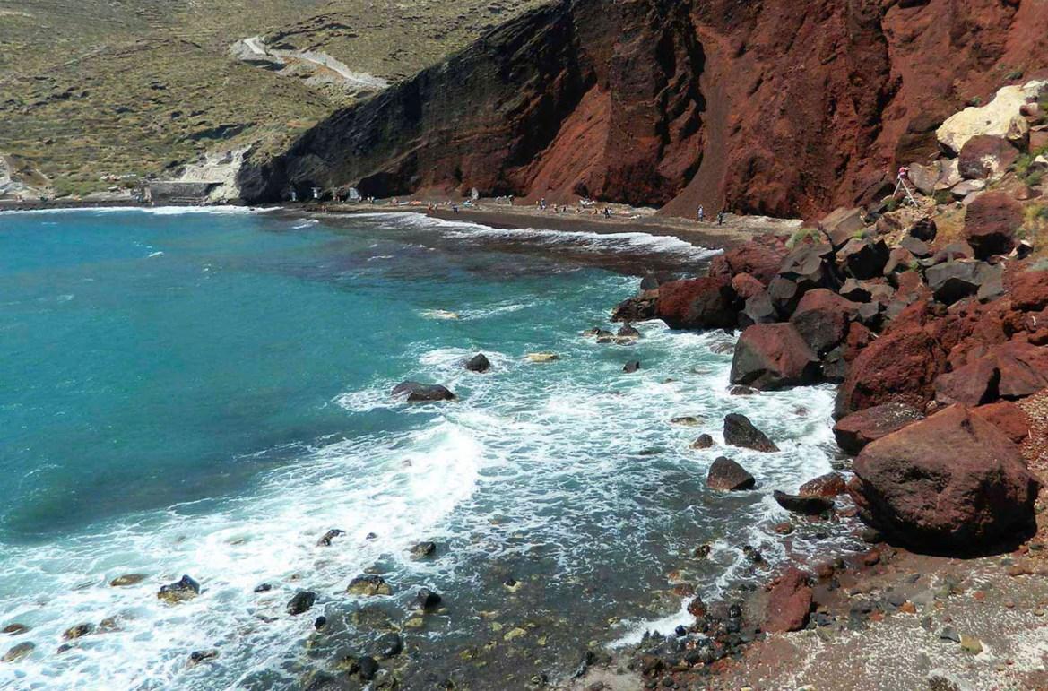 Praias mais lindas do mundo - Red Beach, na Ilha de Santorini (Grécia)