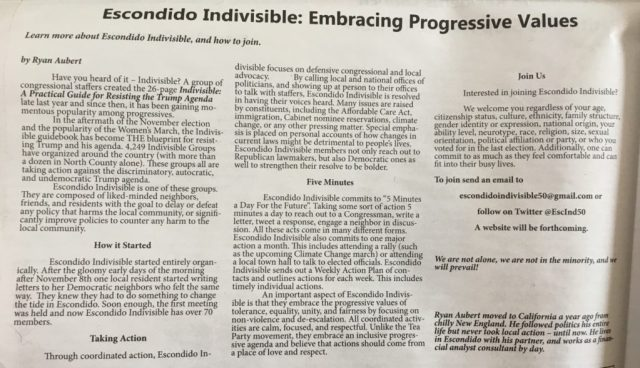Alianza Volume 4 Issue 1: Escondido Indivisible: Embracing Progressive Values