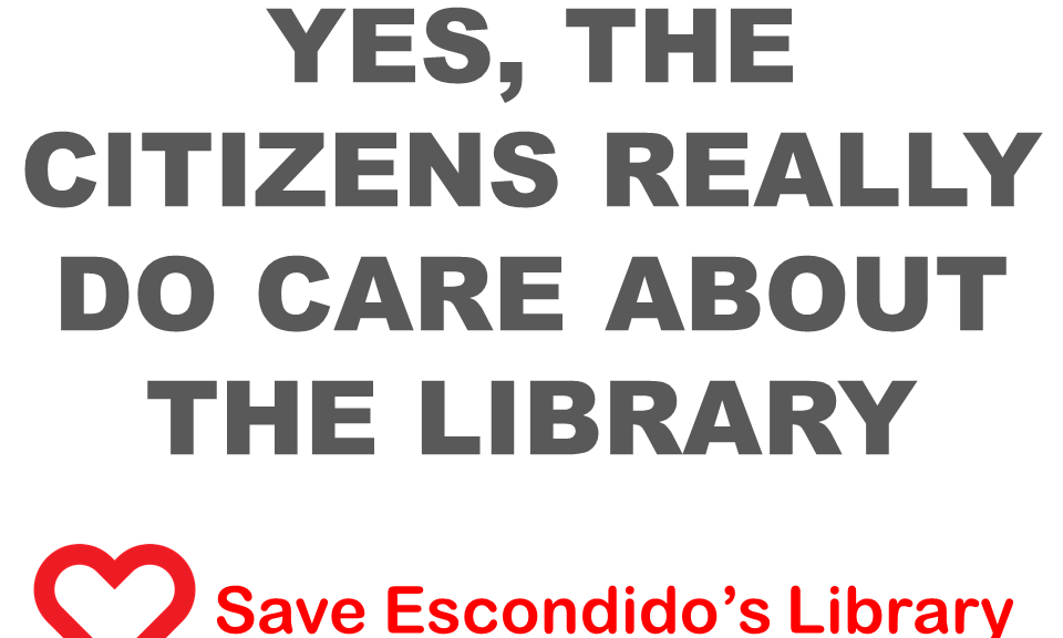 Yes, the citizens really do care about the library.
