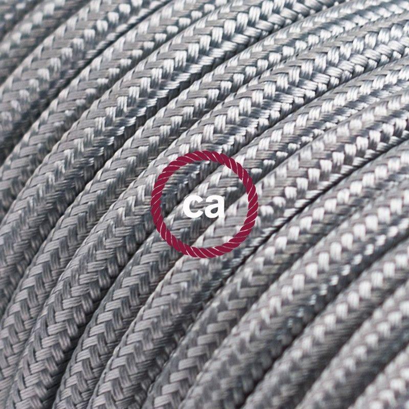 I nostri cavi elettrici in. 2x0 75 Creative Cables Cavo Elettrico Rotondo Rivestito In Tessuto Effetto Seta Tinta Unita Glitterato Rame