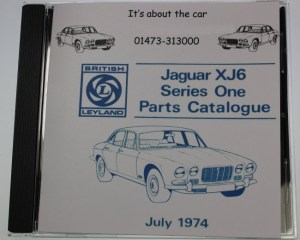 Series 1 Jaguar XJ6 Parts Catalogue July 1974 CDROM Brand