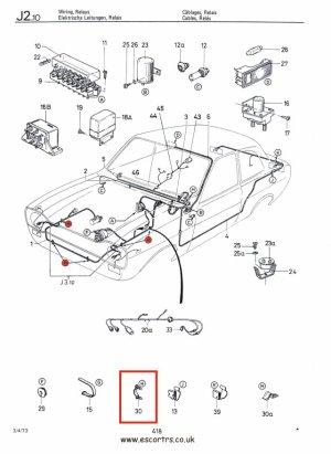 Grey Ford Logo Engine Bay Loom Clips Mk1 & Mk2 Escort
