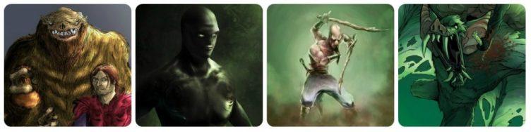 Adapak, Telalec e outros seres de Kurgala, mundo do Espadachim de Carvão.