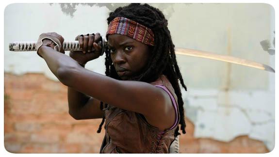 """Michonne - Personagem da Série """"The Walking Dead"""""""