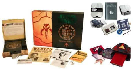 """Kits americanos: """"The Bounty Hunter Code"""", """"The Jedi Path"""" e """"The Book of Sith"""""""