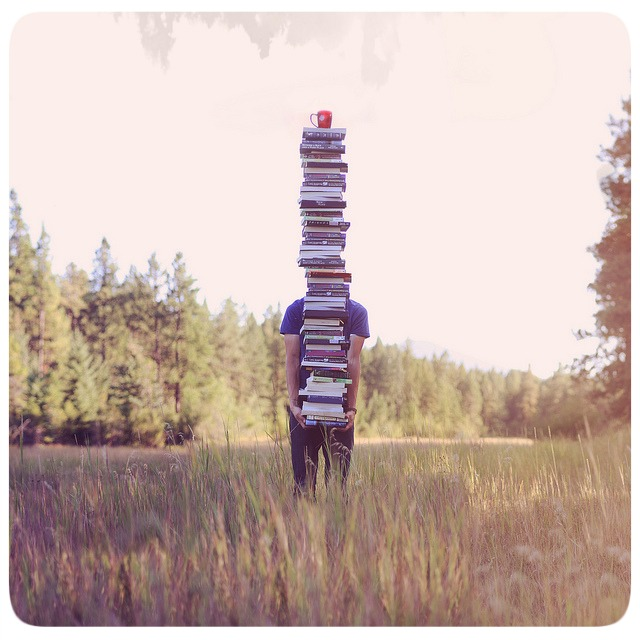 Pilha de Livros - por Joel Robison