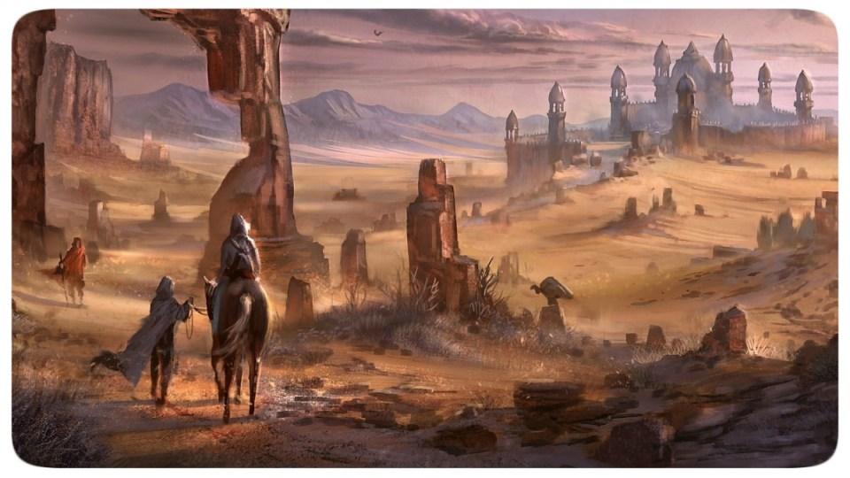 Deserto - Cavalos - Castelo - Fantasia