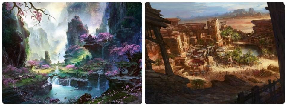 Fantasia - Tolkien - Floresta - Deserto - Primavera - Verão