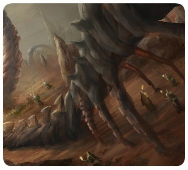 Dinossauros - Dragões - Ossos - Deserto