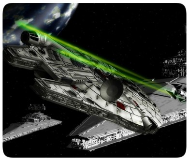 Millenium Falcon - Star Destroyer - Star Wars