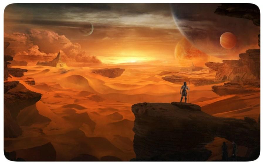 Alien Sunrise - Desert Planet - Deserto - Sol