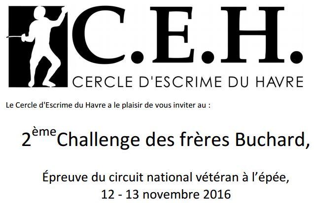12-13 novembre 2016 au Havre : circuit national vétéran épée