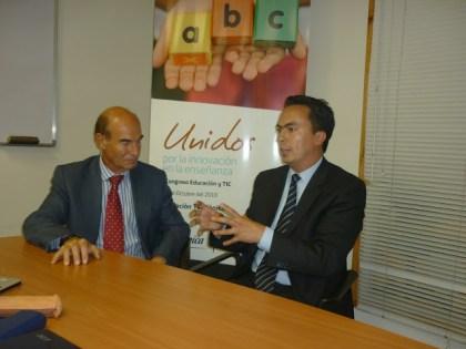 Entrevista al Director General del Programa Proniño de la Fundación Telefónica y Jairo Alberto Galindo C. en el I Congreso Internacional de Educación y TIC. Quito, Ecuador.