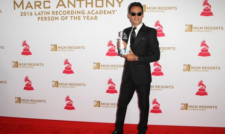 La Academia honra a Marc Anthony como Persona del Año 2016