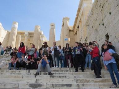 Grupo en la Acropolis