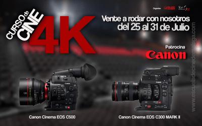 Las cámaras Canon C300 Mark II, C500, XC10 para el Curso de Cine 4k