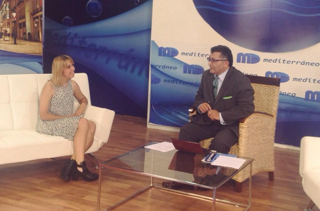 La Alumna de Cine Sonia Vargas entrevistada en el magazine de Mediterráneo TV