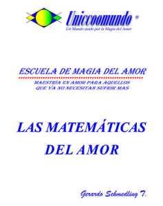 Las matematicas del amor