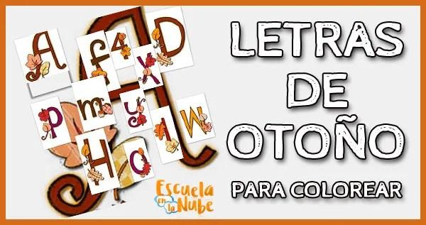 letras de otoño, abecedario otoño