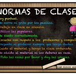 Normas de comportamiento en clase