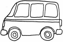 7autobuses para colorear