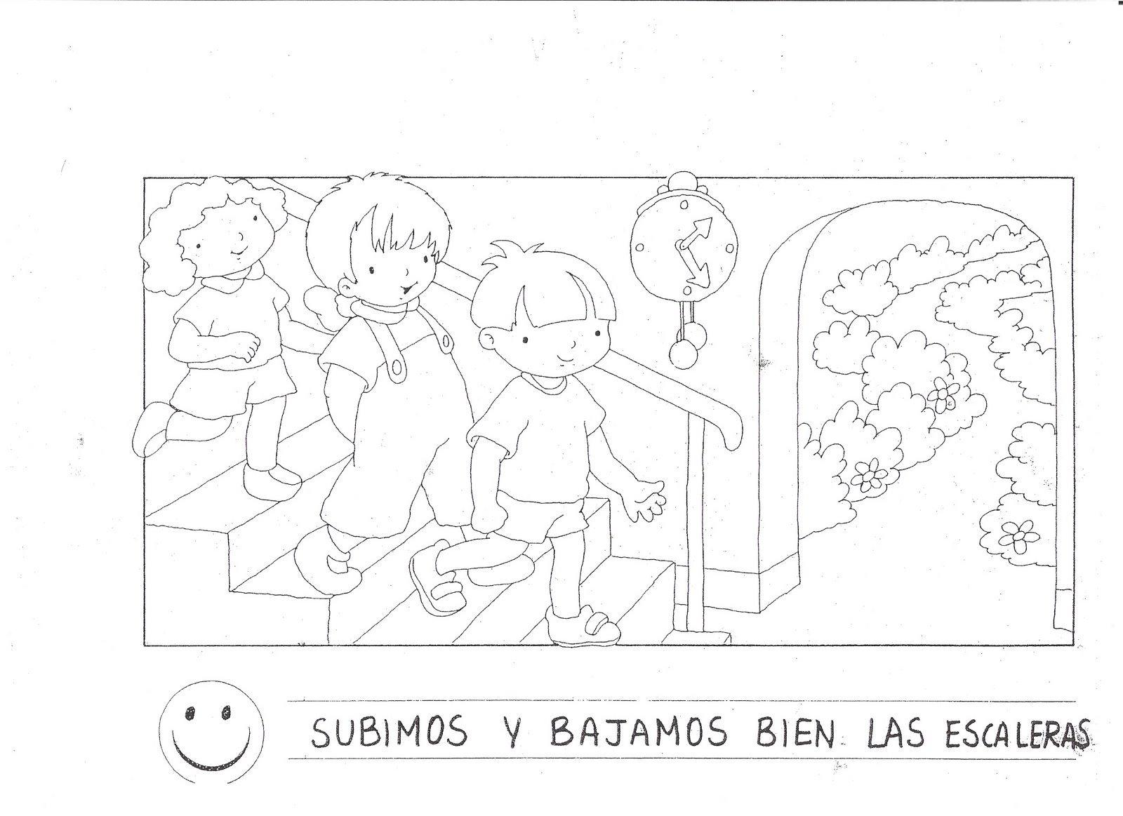 Normas De Clase Para Colorear Escuela En La Nube