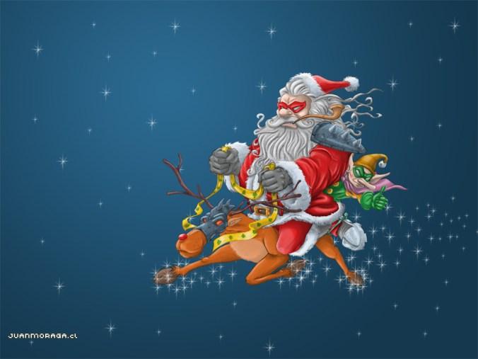 Battle_Santa_by_DocVector